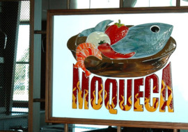 Fused Glass Restaurant Logo Panel