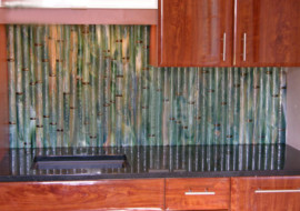 Round Bamboo Backsplash