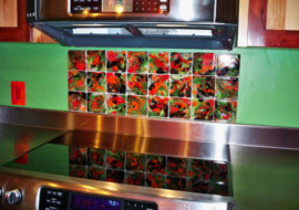 Deco Tile Backsplash
