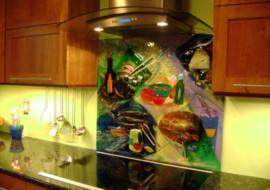 Colorful Abstract Backsplash