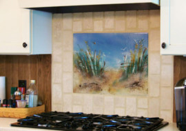 "Beach Themed Kitchen Backsplash ""Path to the Beach"""