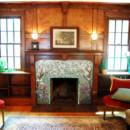 Mosaic Fireplace Surround/Dogwood and Irises