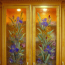 Blue Iris Kitchen Cabinet Panels