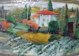 Tuscan Scene Kitchen Backsplash