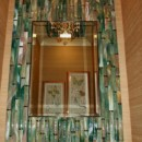 Bamboo Mirror in Hand-made Fused Glass Tiles