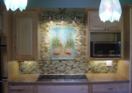 Beach Theme Kitchen Backsplash