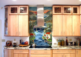Tuscany Backsplash Scene