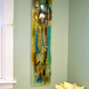 Fused Glass Abstract Wall Panel