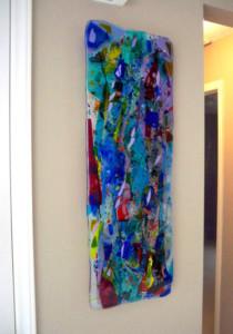 """Fused Glass """"Rainbow"""" Panel"""