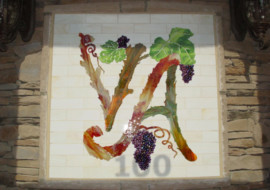 Fused Glass Mural as Restaurant Logo