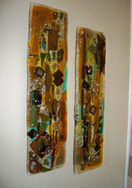 Fused Glass Wall Art Panels