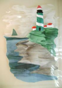Lighthouse Vignette Panel