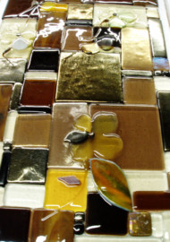 "Glass Art Panel ""Patchwork"""