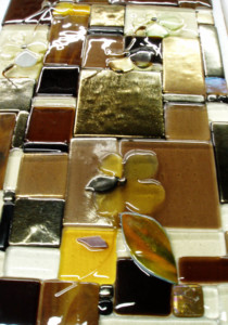 "Glass Art Panel ""Patchwork"""