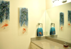 Fused Glass Panels (Wisteria & Koi)