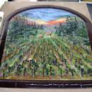Fused Glass Mural in North Carolina Vineyard Scene