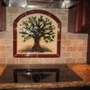 """Tree of Life"" Kitchen Backsplash in Fused Glass"