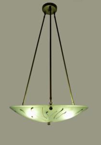 """Organic"" iridized green chandelier"