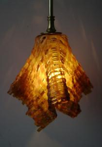 Streaky amber pendant