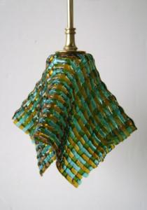 Woven Glass Pendant Light