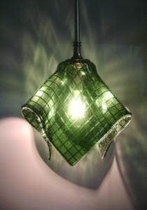 Green squares pendant