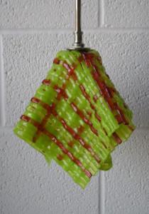 Spring green woven pendant