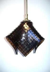Tan squares pendant