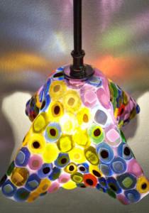 """""""Kilmt"""" Fused Glass Pendant Light"""