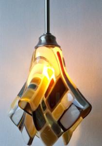 """""""Klimt"""" inspired pendant light"""