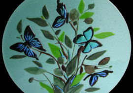 "Bluegreen ""Butterfly"" Plate"