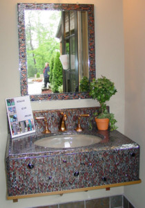 Mosaic Sink & Mirror