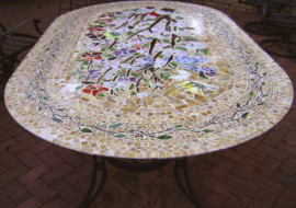 Mosaic Table – Oval