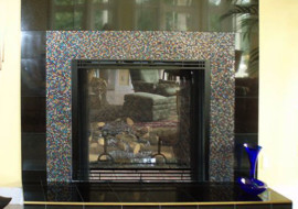 Confetti Fireplace Surround