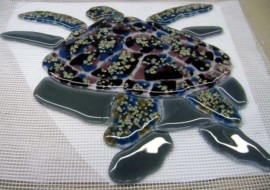 Glass Mosaic Turtles for Swimming Pool