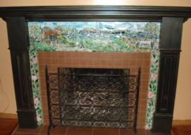 """English Cottage"" Mosaic Fireplace Surround"