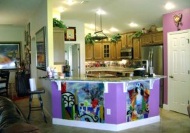 Contemporary Fused Glass Kitchen Art
