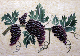 Grapes and Vines Kitchen Backsplash