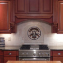 Glass Kitchen Backsplash (Pennsylvania Dutch Hex)