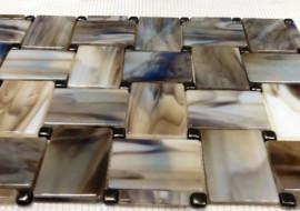 Fused Glass Basketweave Tile