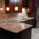 Stained Glass Tile Kitchen Backsplash