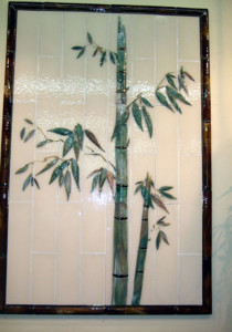 Bamboo Mural in Glass
