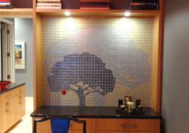 Glass Mosaic Apple Tree Mural