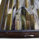 Bamboo Mural with Fused Glass Border