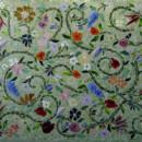Glass Mosaic Floral Mural