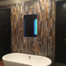 "Fused Glass ""Bamboo"" Wall"
