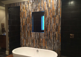 """Fused Glass """"Bamboo"""" Wall"""