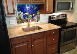 Hawaiian Underwater Scene for Kitchen Backsplash