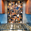 Fused Glass Mosaic Patchwork Kitchen Backsplash