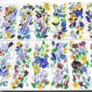 Fused Glass Floral Border Tiles