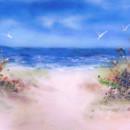 Beach Scene in Fused Glass